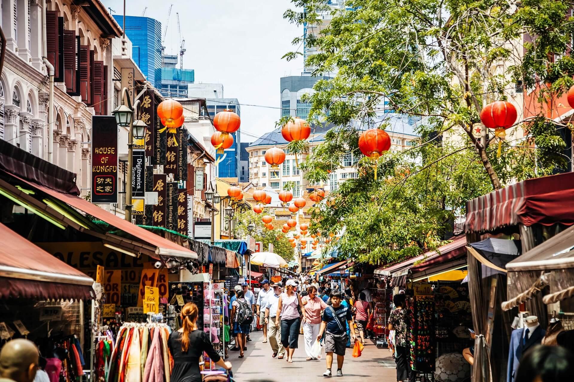 Das Chinatown in Singapur ist besonders bei Touristen sehr beliebt