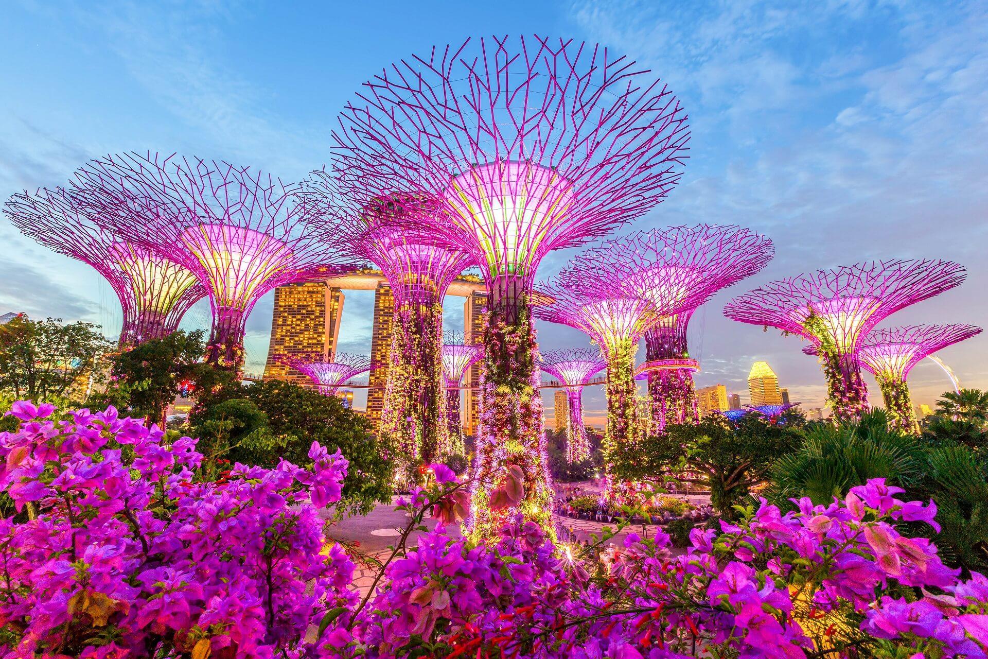 Die Gärten an der Marina Bay in Singapur sind spektakulär
