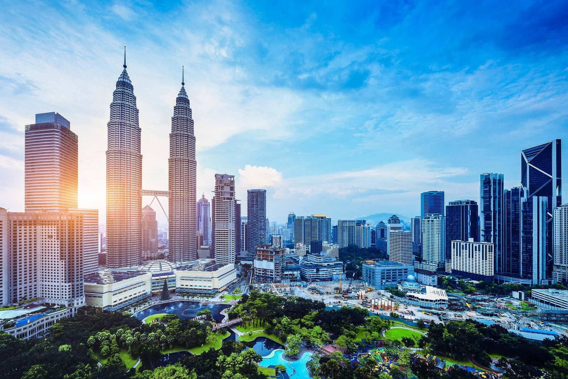 Die Zwillingstürme in Kuala Lumpur sind ein beliebtes Fotomotiv