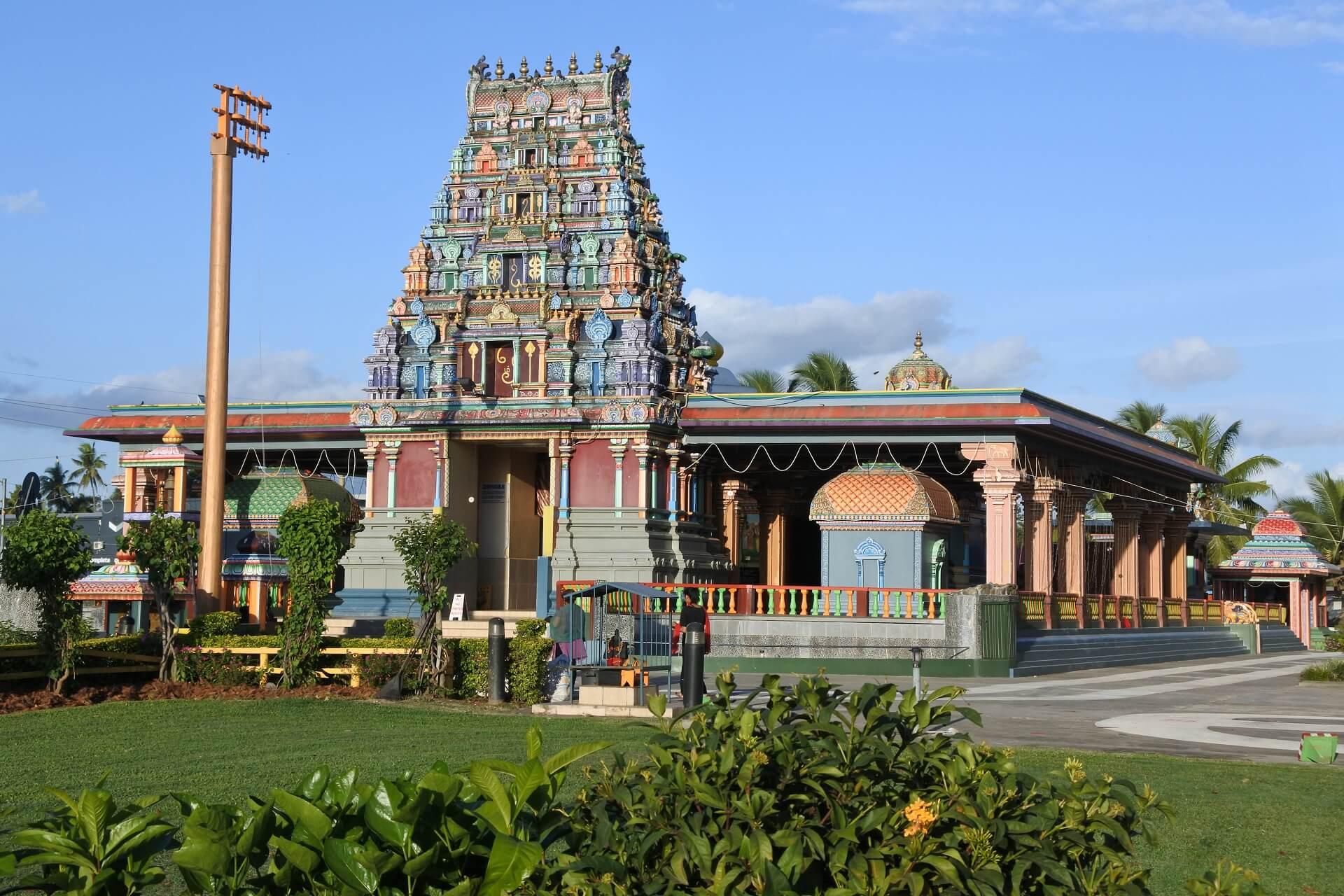 Der Sri Siva Subramaniya Hindu Tempel auf den Fidschi Inseln