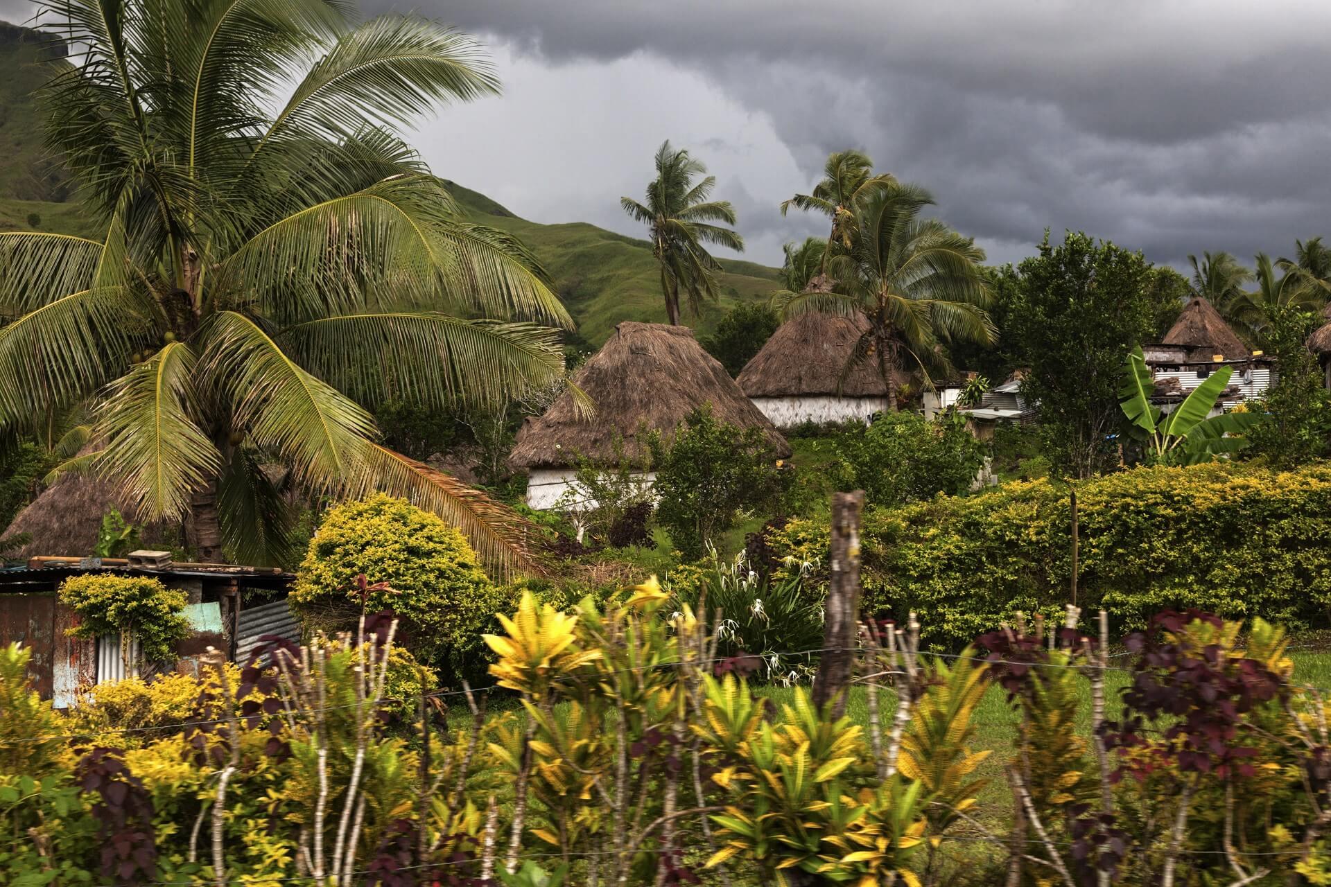 Das traditionelle Dorf Navala auf den Fidschi Inseln