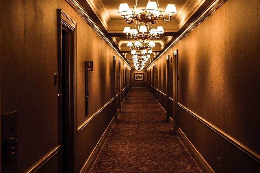 Luxuriöser Flur in einem Boutique Hotel