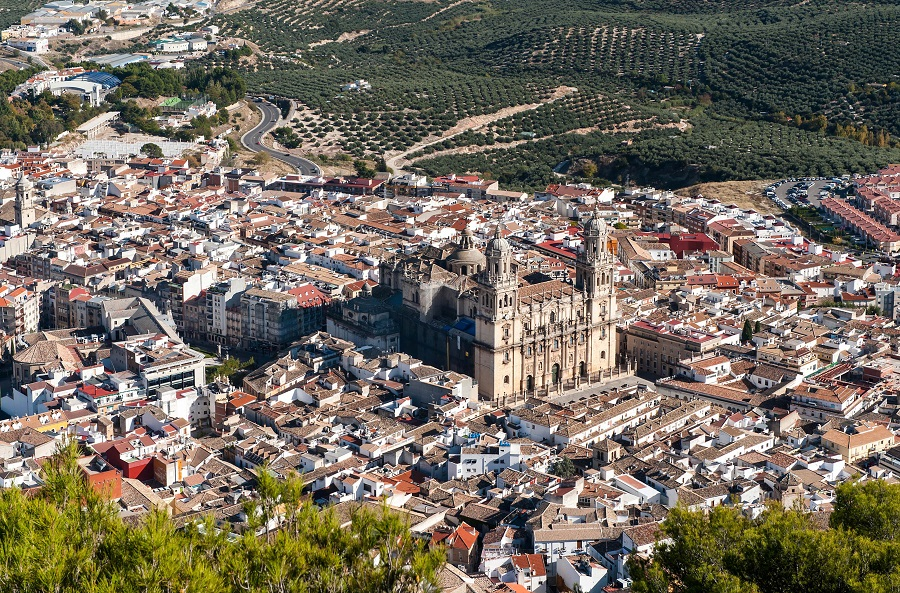 Andalusien;Cathedral in Jaen City Spain