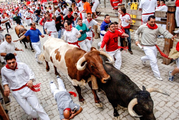 Stierlauf in Pamplona