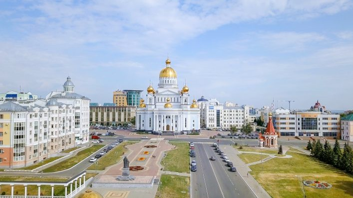 Ein Platz in Saransk