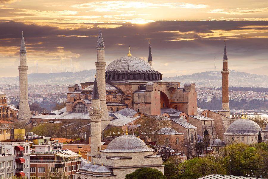 Ansicht der Hagia Sophia in Istanbul