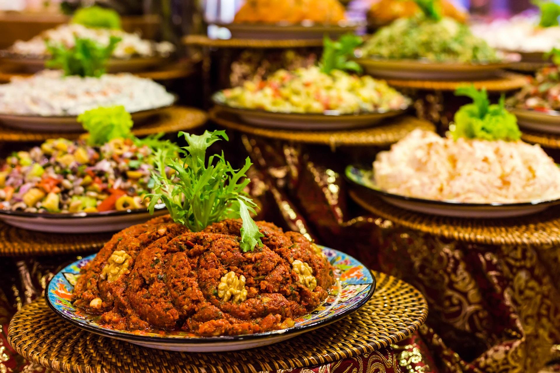 Vegetarisches Essen an der Türkischen Ägäis