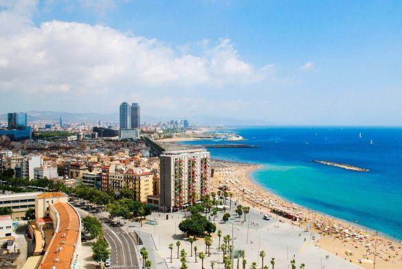 Der Küstenabschnitt von Barcelona in Spanien
