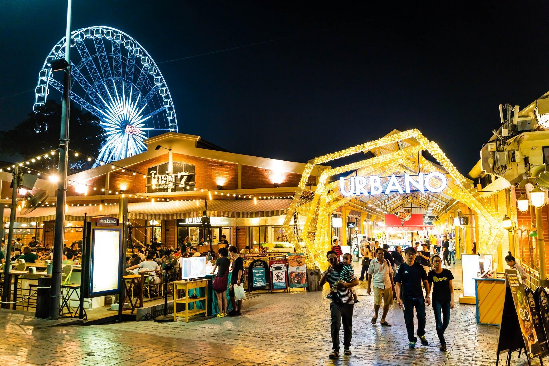 Der Markt Asiatique ist bei Einheimischen und Touristen sehr beliebt