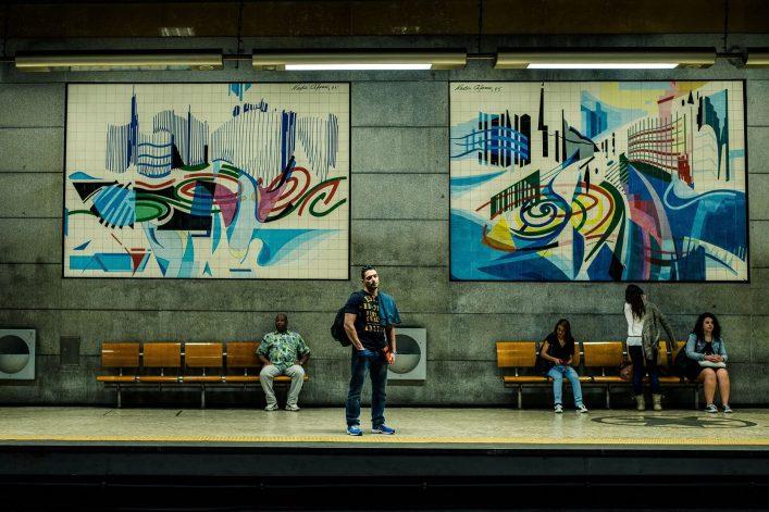 Die Metro in Lissabon ist sehr sehenswert