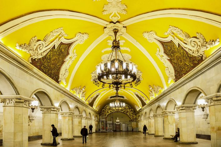 Kunstvolle Metrostationen gibt es überall
