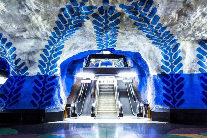 Die Metrostation in Stockholm ist sehr künstlerisch