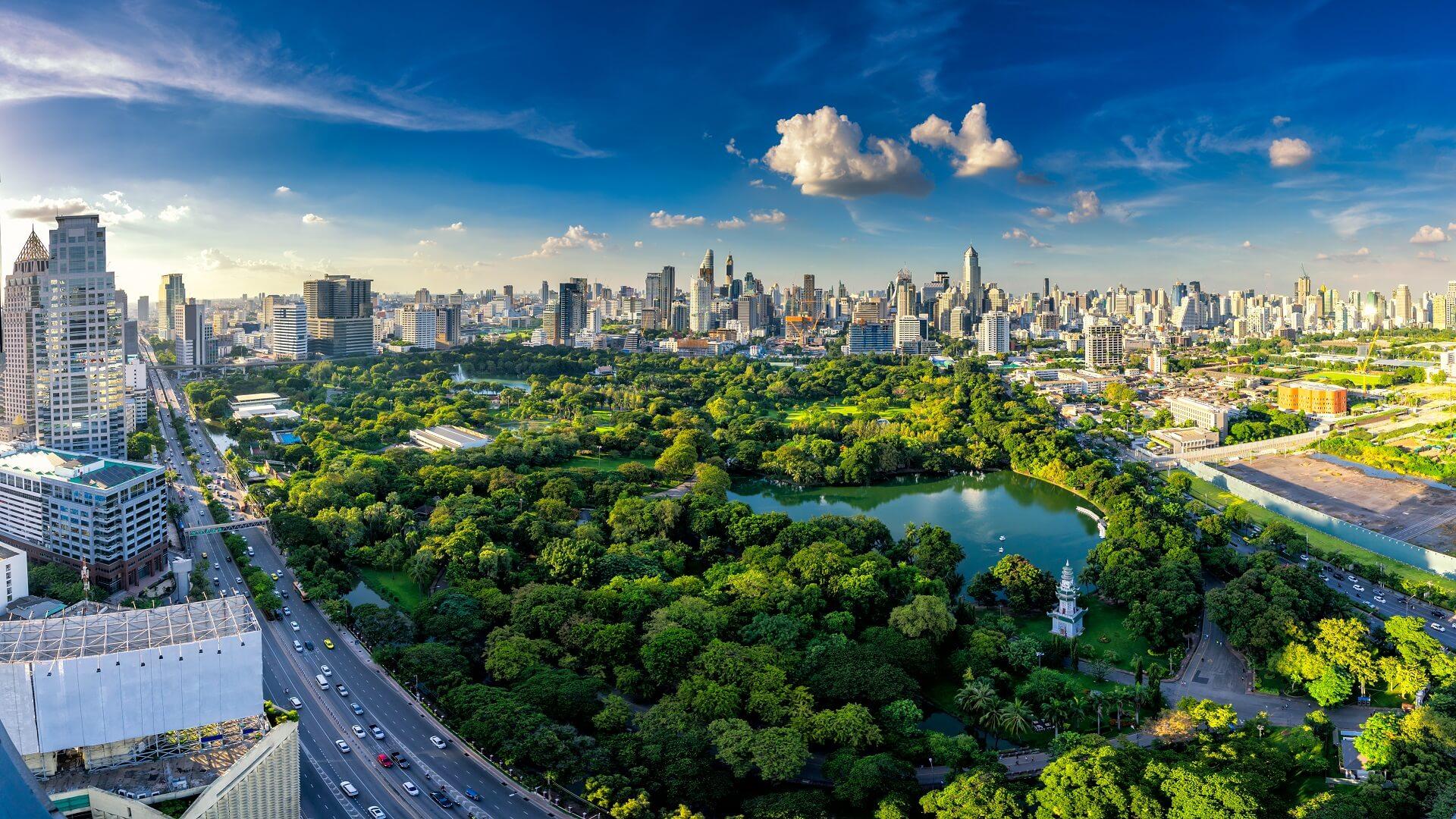 Im Lumpini Park in Bangkok kann man sich super entspannen