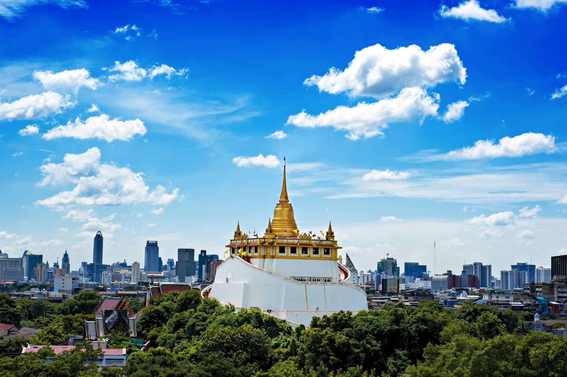 Der Golden Mount Tempel in Bangkok ist sehr beeindruckend