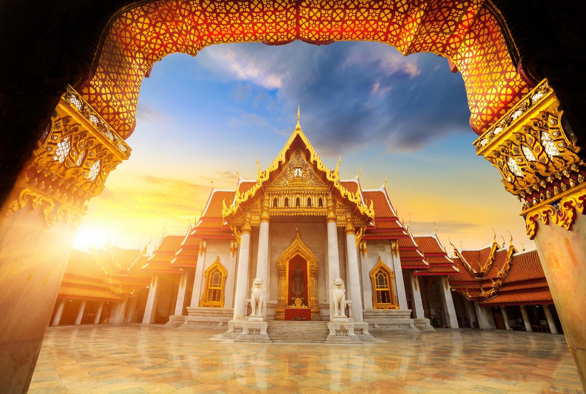 Der Marble Temple in Bangkok ist ein echtes Highlight
