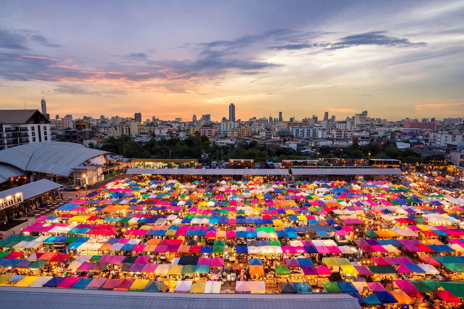 Märkte in Bangkok sind sehr beliebt