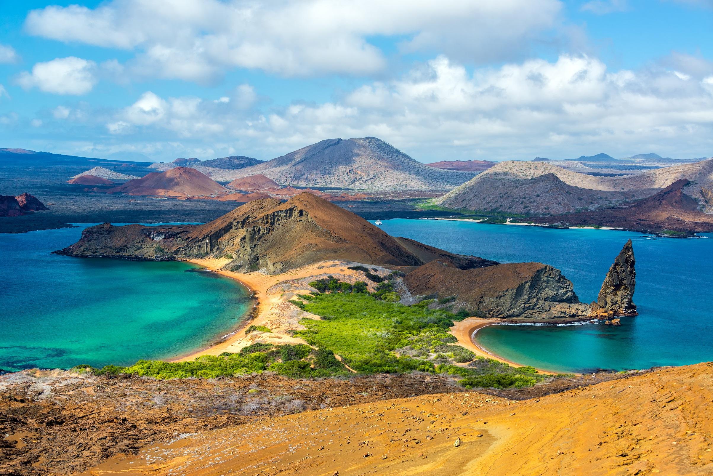 Die Sicht auf die Inseln
