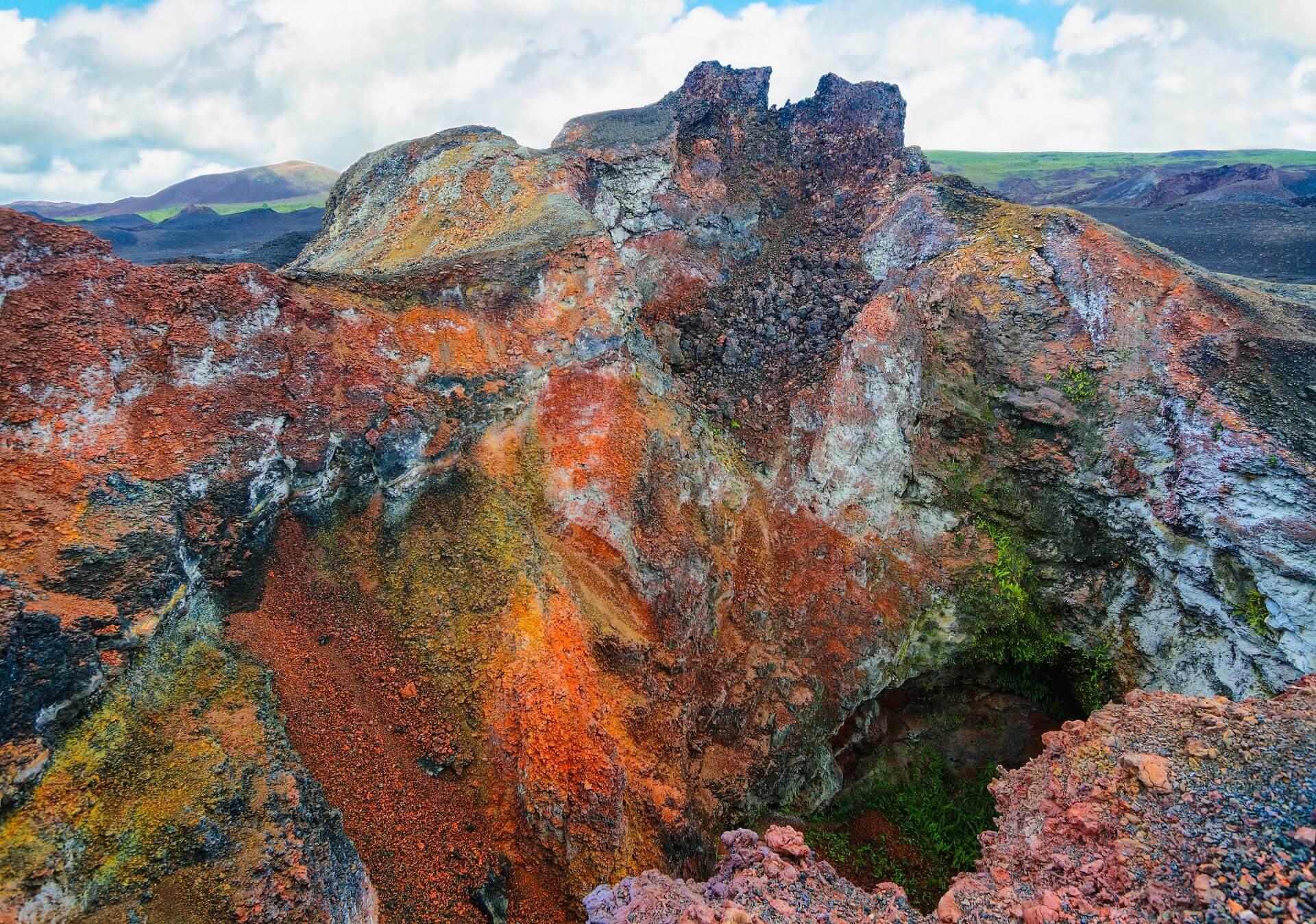 Der Vulkan Sierra Negra auf den Galapagosinseln