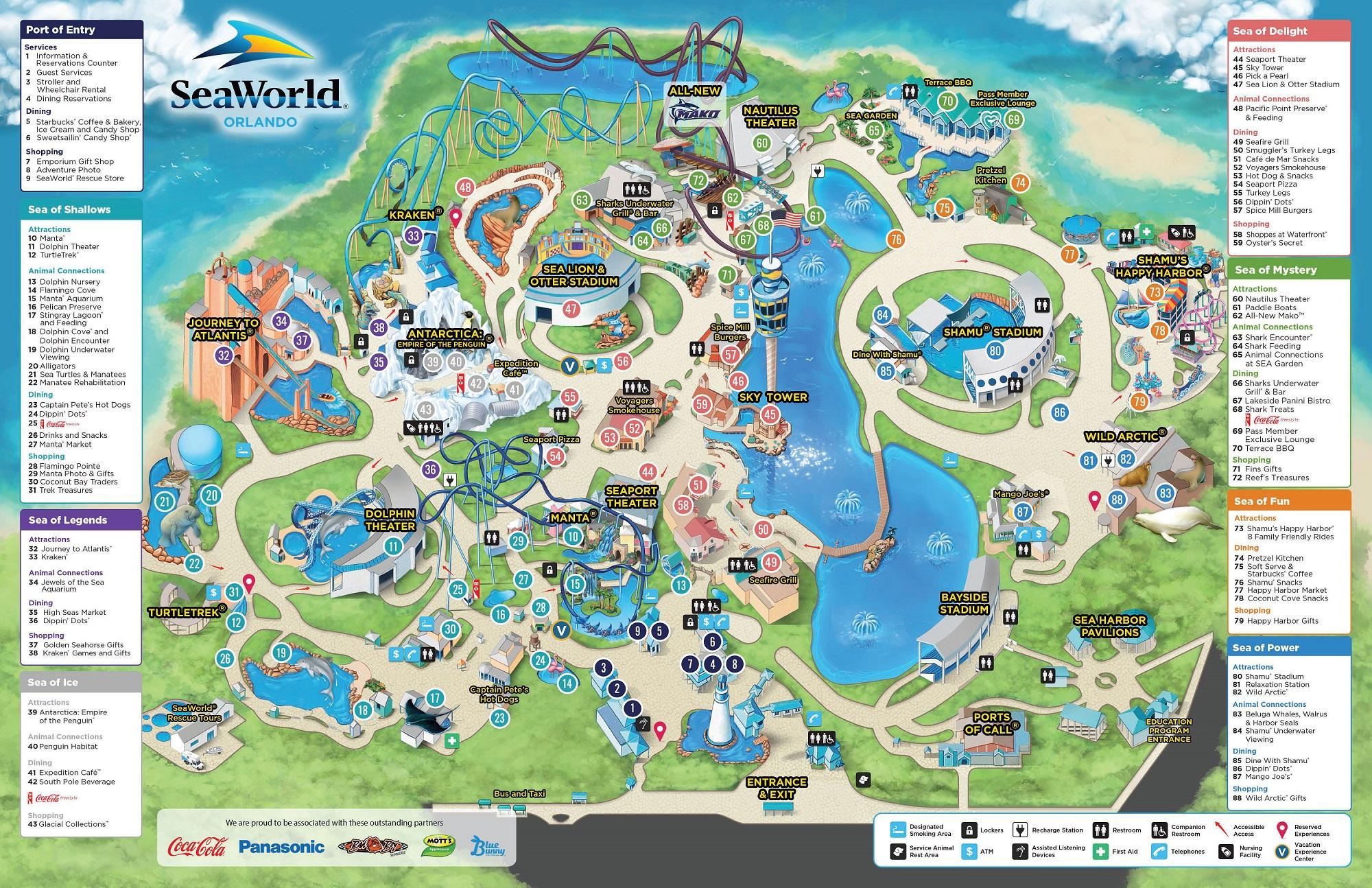 SeaWorld® Parkplan