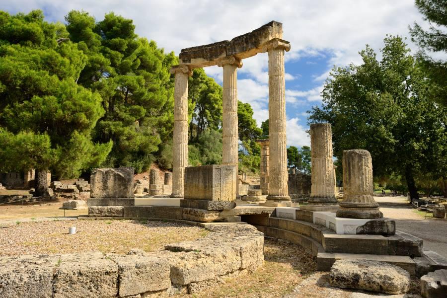 Ruinen der antiken Stadt Olympia