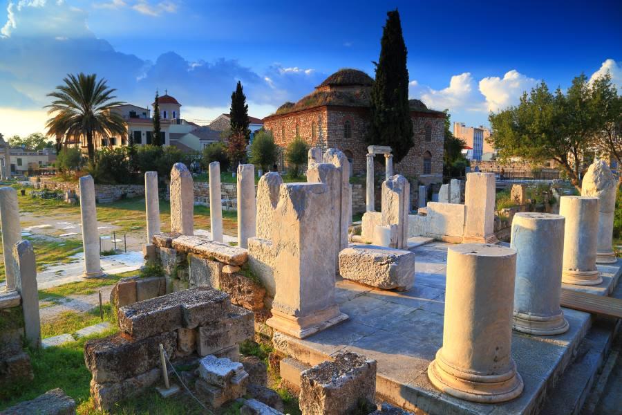 ruinen der Agora in Athen, Griechenland
