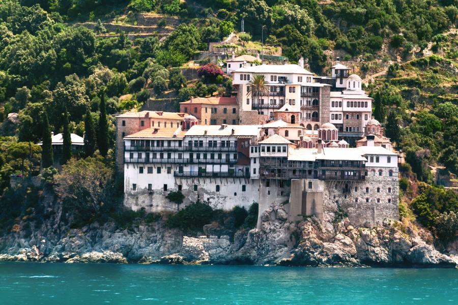 Kloster Osiou Grigoriou auf dem heiligen berg Athos in griechenland