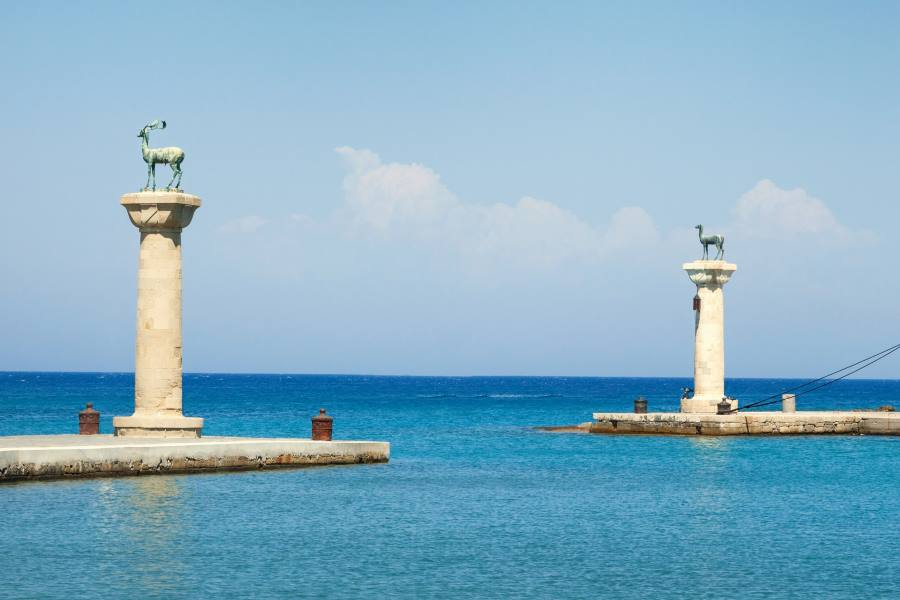 Hafeneinfahrt von Rhodos-Stadt