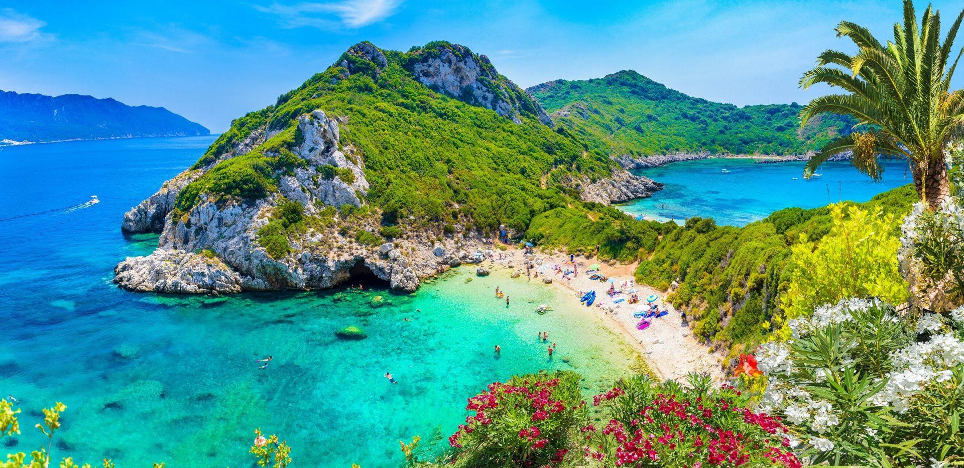 Bucht Porto Timoni auf Korfu in Griechenland
