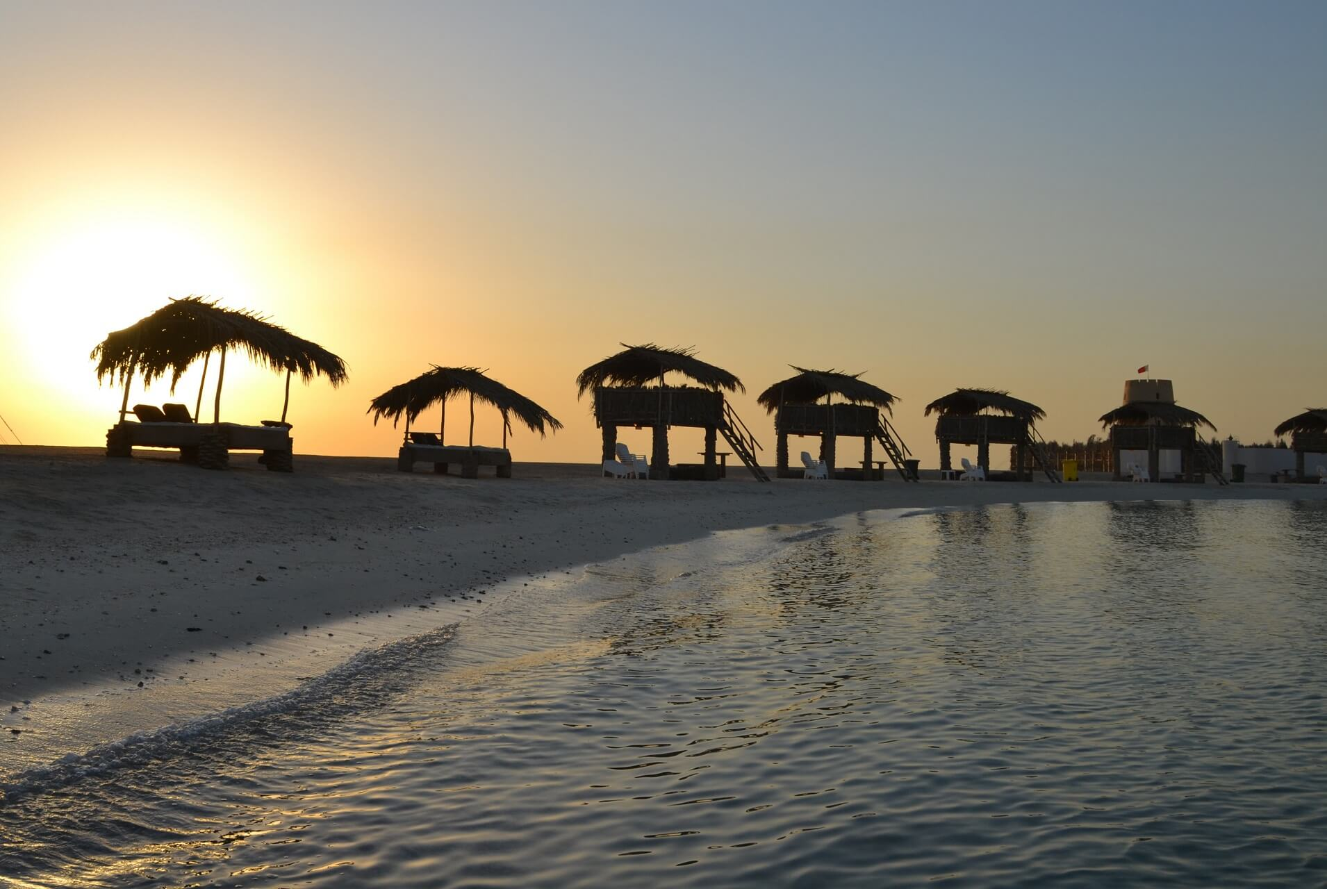 Chalets auf Al Dar Island in Bahrain