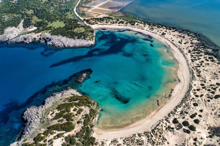 Bucht von Voidokilia Beach einer der schönsten Strände Griechenlands