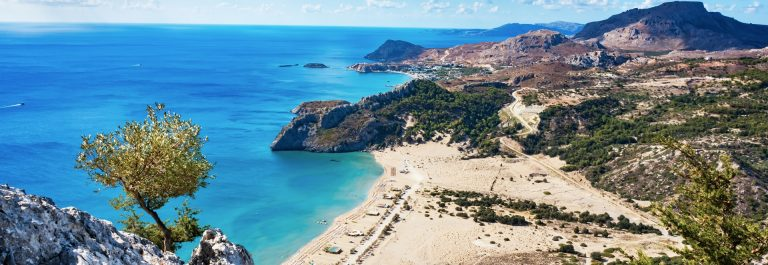 Tsambika Beach auf Rhodos, Griechenland