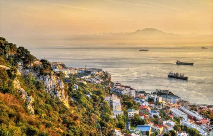 View from the Rock of Gibraltar towards Morocco