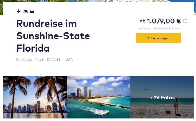 Florida Rundreise 12 Oder 14 Tage Inkl Allen Hotels Nur