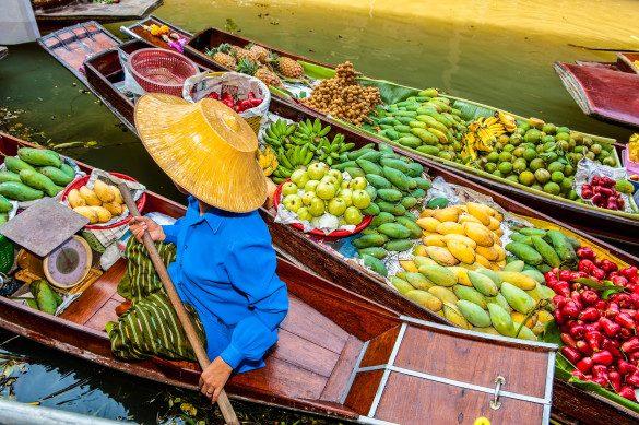 Schwimmende Märkte Thailand Bangkok