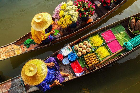 Schwimmende Märkte Thailand Damnoen Saduak