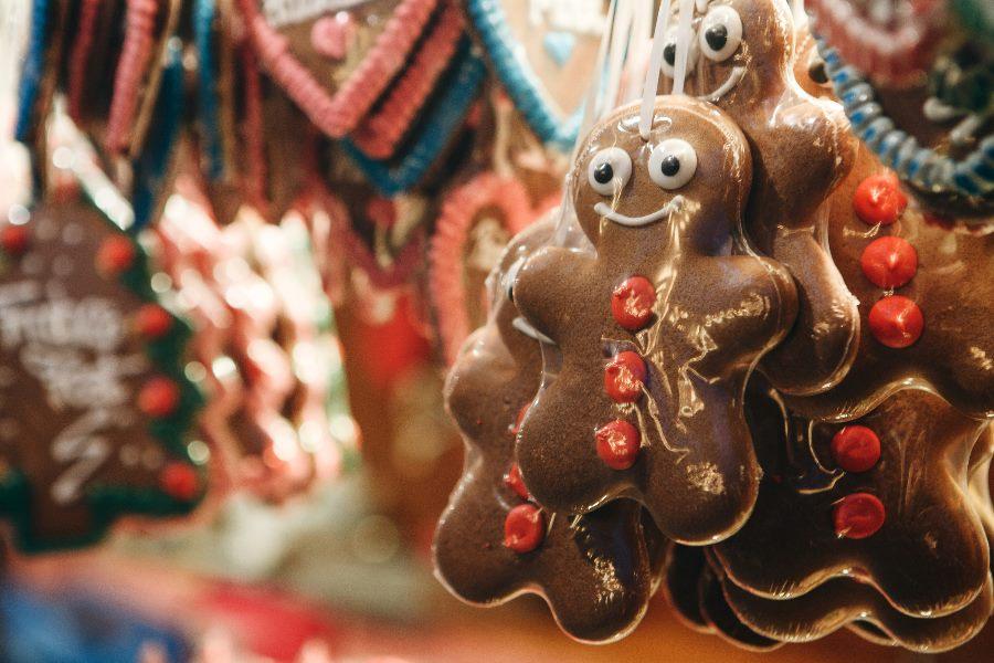 Lebkuchenmann auf dem Frankfurter Weihnachtsmarkt