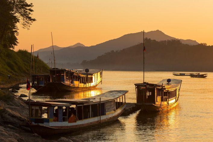 Boats-on-the-Mekong-river-Luang-Prabang-Laos-shutterstock_696119113