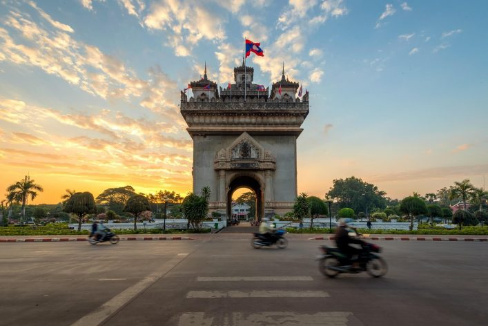 Patuxay-Monument-decorate-with-the-light-at-Vientiane-Laos.shutterstock_375296827