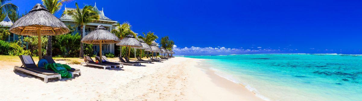 Serene tropical holidays – perfect white sandy beaches of Mauritius island