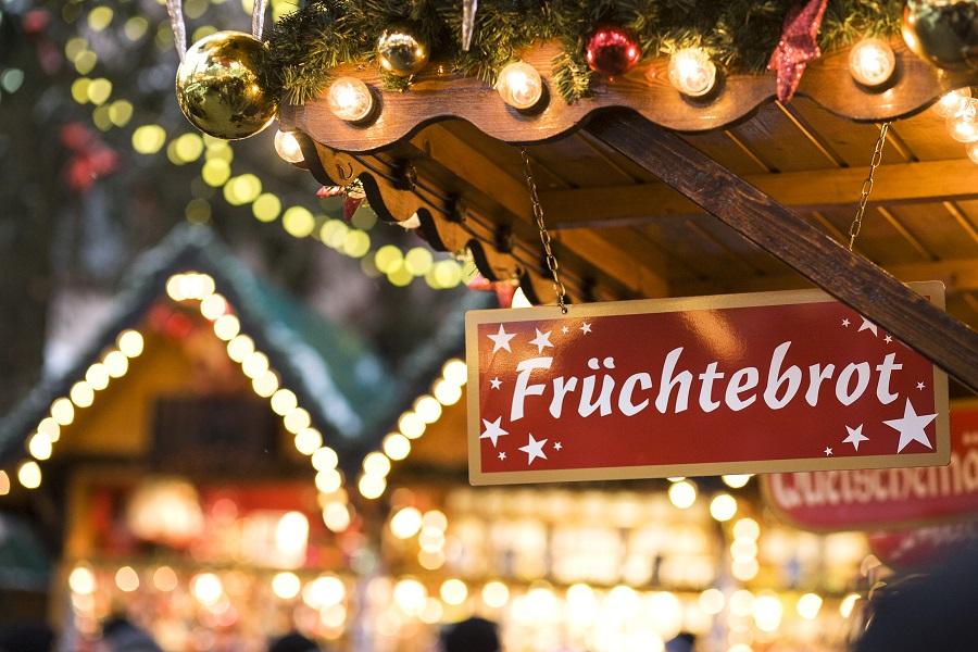 Marktstand auf dem Wiltener Christkindlmarkt