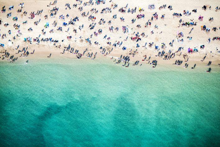 Beach overhead view