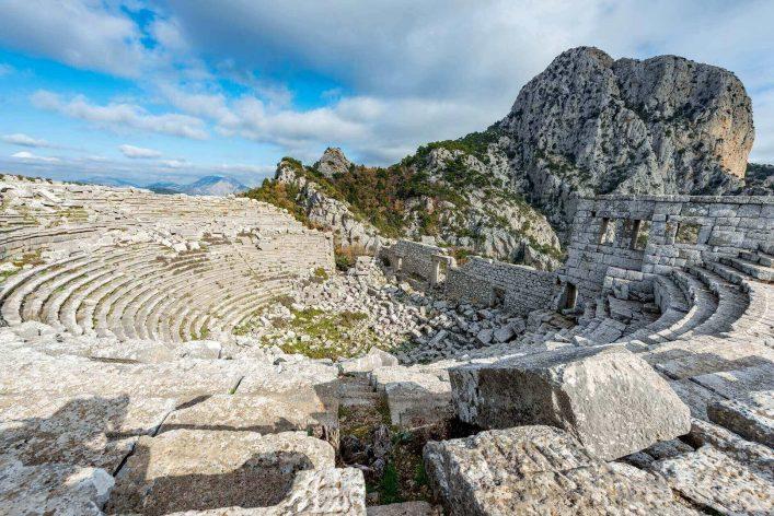 Antalya-Turkey.-December-21-2017.-The-amphitheatre-in-Termessos-Ancient-City-Antalya-Turkey.Termessos-one-of-Turkey's-major-attractions-30km-northwest-of-Antalya-thesshutterstock_785675248