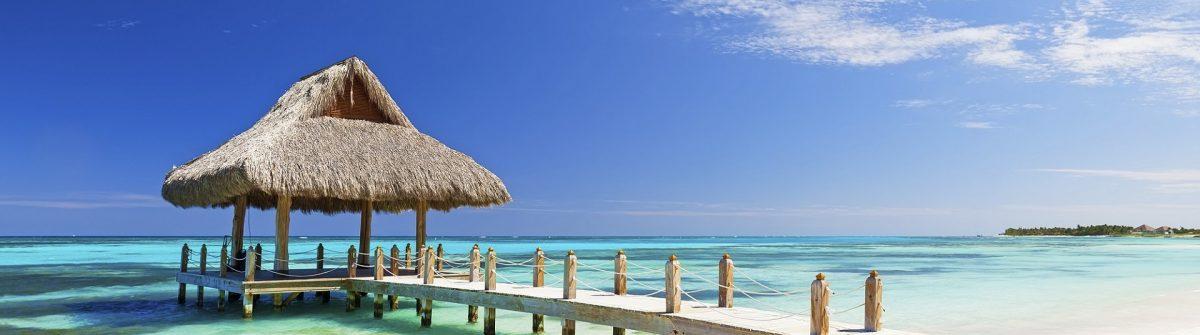 Beautiful tropical white sandy beach