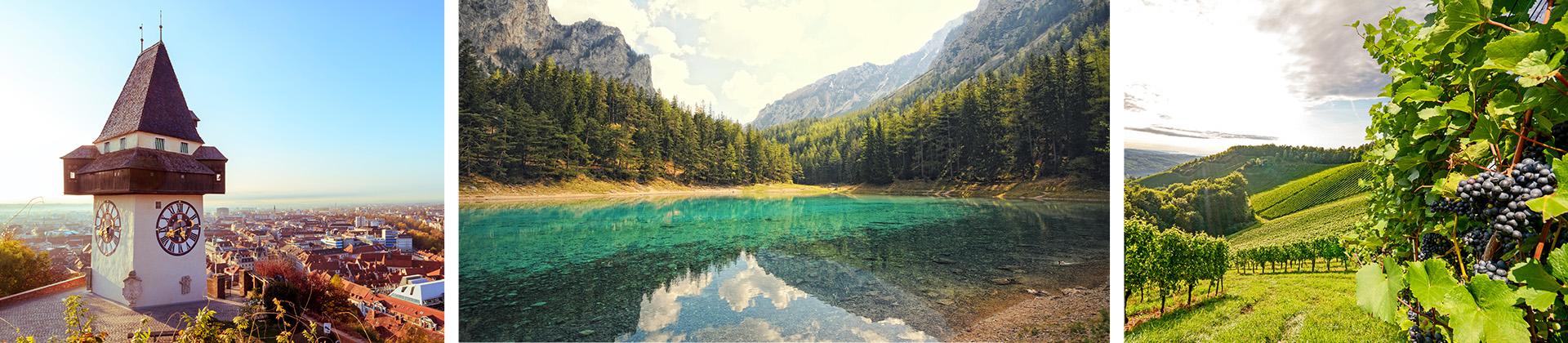 Orte in der wunderschönen Steiermark während der Osterferien