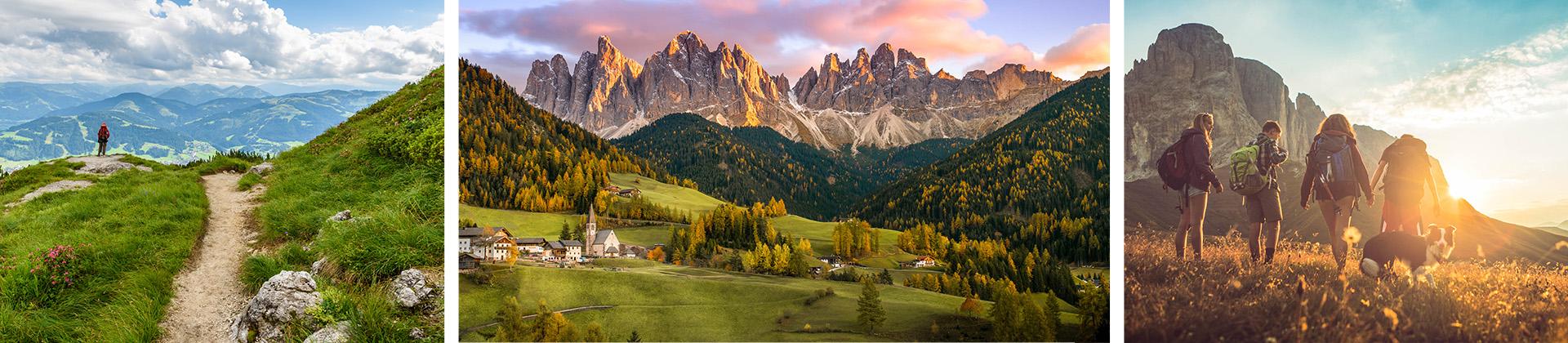 Wanderer in den Bergen Tirols während der Osterferien