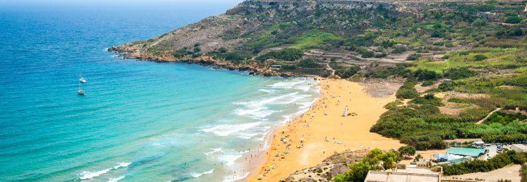Ramla bay beach in Gozo island, Malta