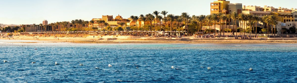 Coast of Hurghada on a sunny day