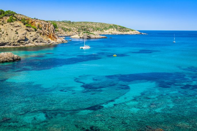 Ibiza-Cala-Benirras-beach-in-san-Joan-at-Balearic-Islands-Spain-shutterstock_205556833