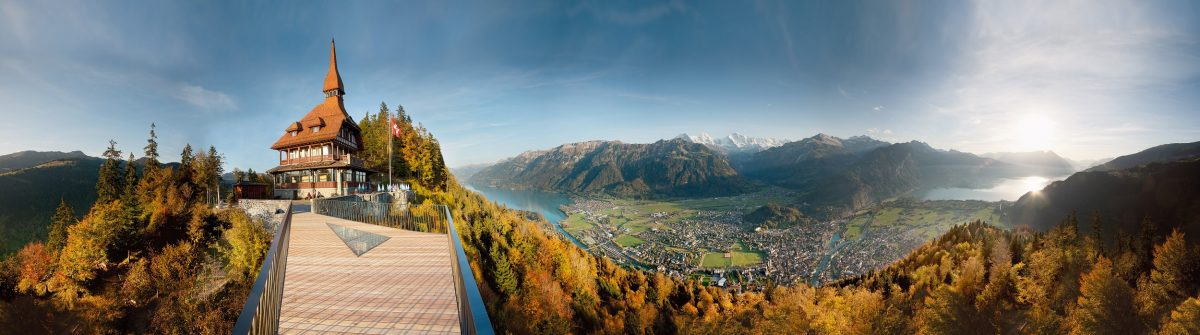 Interlaken: Panorama von Interlaken