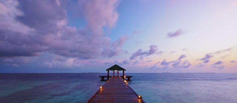 Maldives Seascape At Dawn